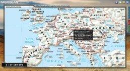 Geopolityka - Mapa konturowa - Skrócone nazwy państw